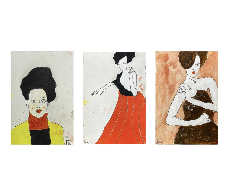 Lot 329 - Benjamin CARRIVICK (1980) Three figure studies...