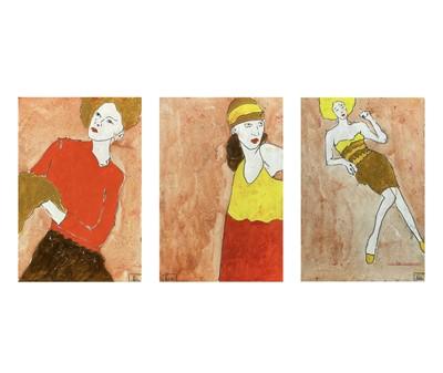 Lot 347 - Benjamin CARRIVICK (1980) Three figure studies...
