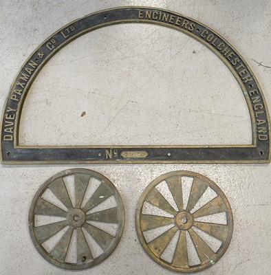 Lot 8 - A brass D-shaped serial number plate for a...