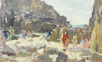 Lot 46 - John HARVEY (1935) A Day at the Beach,...