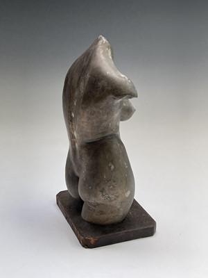 Lot 1049 - Alec WILES (1924) Female Torso Bronze resin...