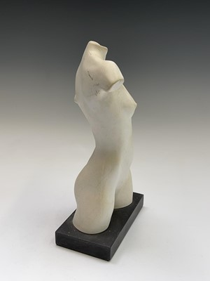 Lot 1055 - Alec WILES (1924) Female Torso Plaster...