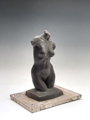 Lot 1056 - Alec WILES (1924) Female Torso Bronze resin...