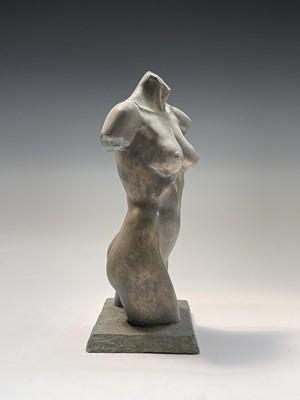 Lot 1057 - Alec WILES (1924) Female Torso Bronzed resin...