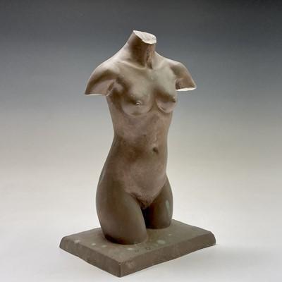 Lot 1058 - Alec WILES (1924) Female Torso Bronzed resin...