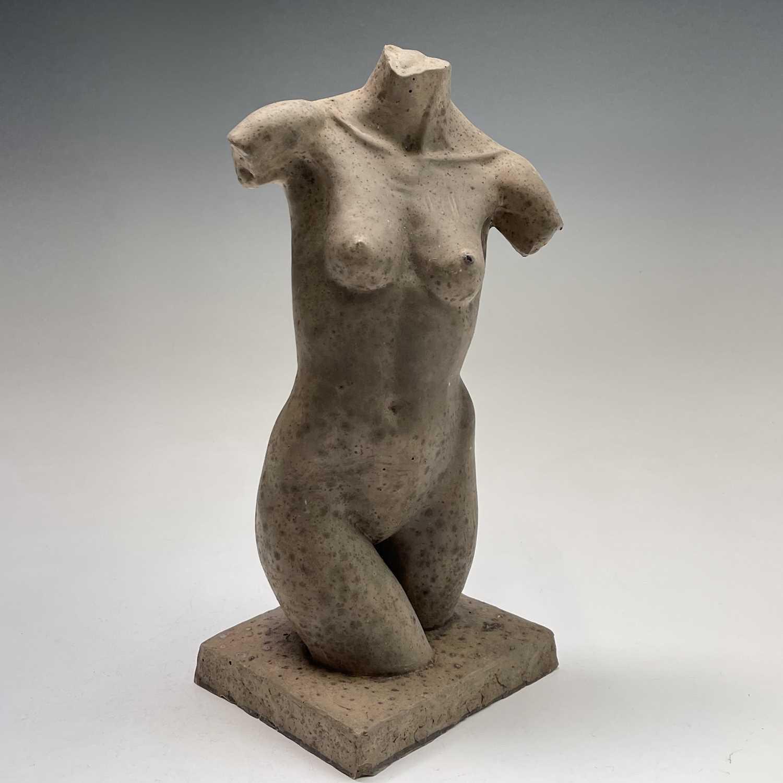 Lot 1060 - Alec WILES (1924) Female Torso Resin sculpture...