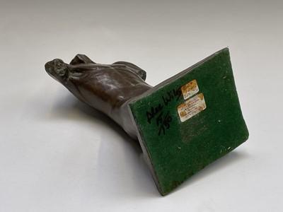 Lot 1062 - Alec WILES (1924) Males Torso Bronzed resin...