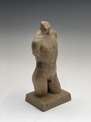 Lot 1064 - Alec WILES (1924) Males Torso Resin sculpture...