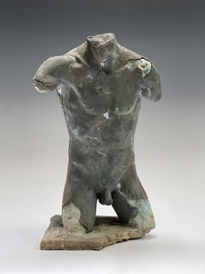 Lot 1065 - Alec WILES (1924) Males Torso Plaster and...