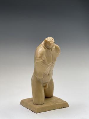 Lot 1066 - Alec WILES (1924) Males Torso Gypsum cast...