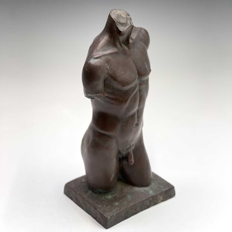 Lot 1067 - Alec WILES (1924) Males Torso Bronzed resin...