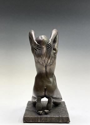 Lot 1068 - Alec WILES (1924) Kneeling Nude Bronzed resin...