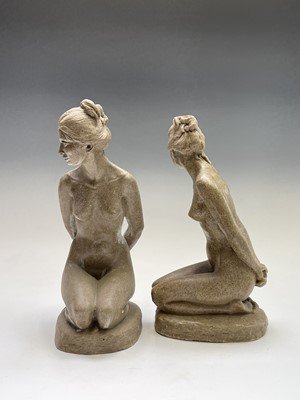 Lot 1075 - Alec WILES (1924) Kneeling Nude Two sand and...