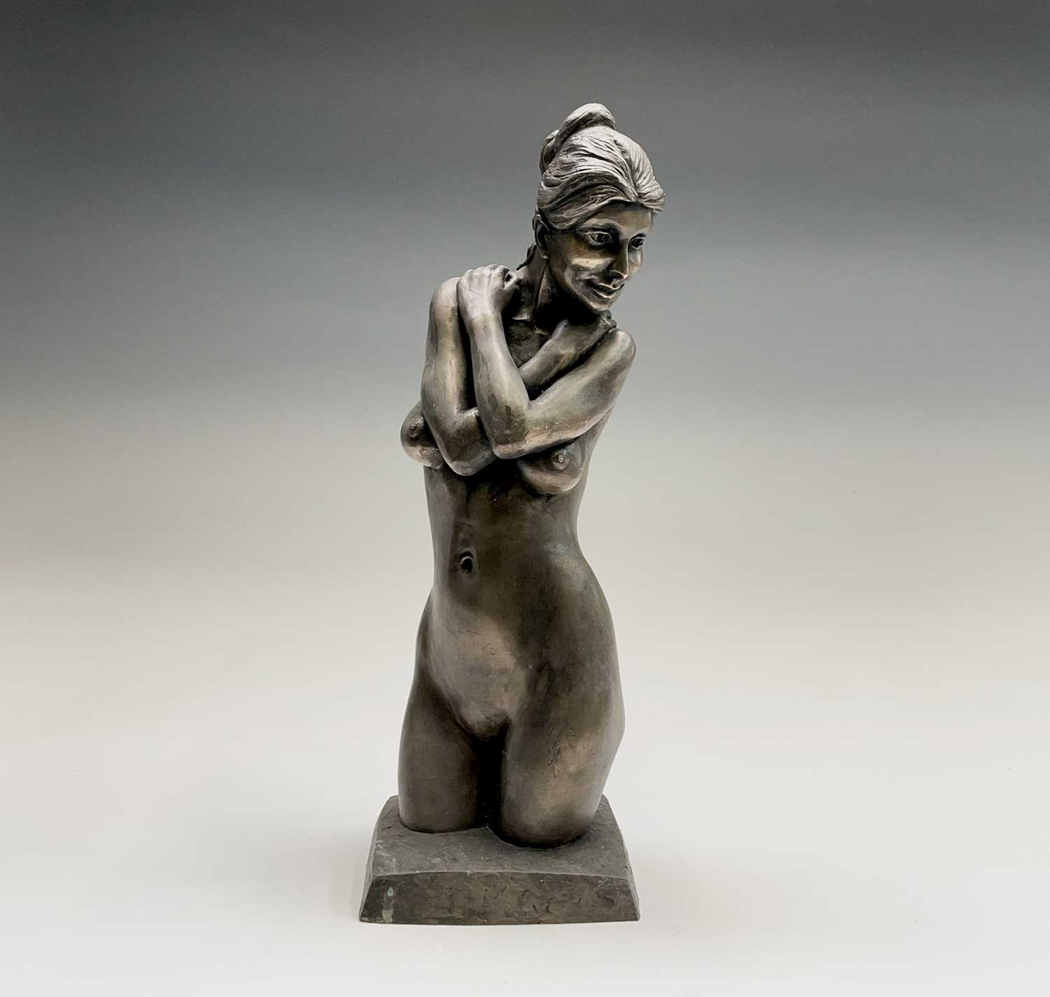 Lot 1076 - Alec WILES (1924) Female Form Bronzed resin...