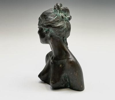 Lot 1078 - Alec WILES (1924) Female Portrait Two bronzed...
