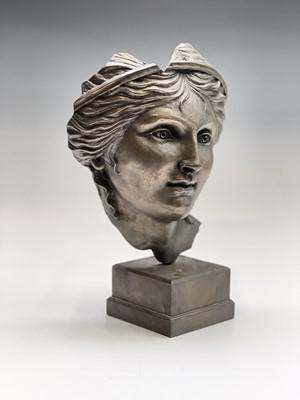 Lot 1081 - Alec WILES (1924) Aphrodite Bronzed resin mask...