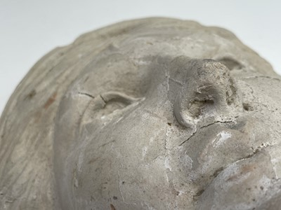 Lot 1083 - Head of Ceasar Bronzed resin mask Together...