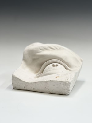 Lot 1084 - Two plaster moulds, one of an eye the other a...