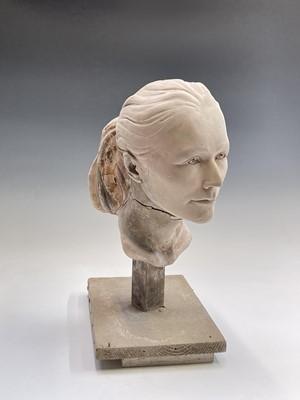 Lot 1087 - Alec WILES (1924) Female Head Plaster...