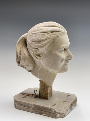 Lot 1088 - Alec WILES (1924) Female Head Plaster...