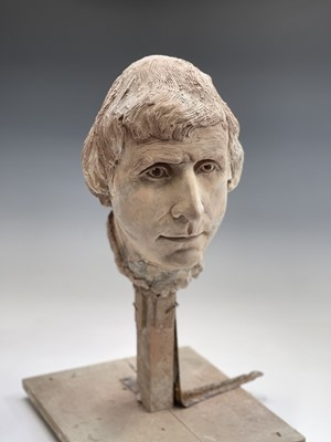 Lot 1089 - Alec WILES (1924) A pottery portrait bust of...
