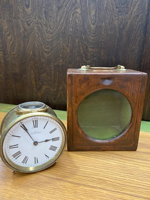 Lot 3 - A French made 'Equator' travel clock, with a...