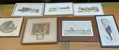 Lot 22 - A watercolour depicting steam and sail boats,...
