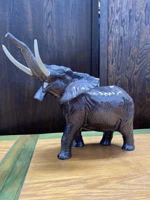 Lot 6 - A large 'Beswick' porcelain elephant.