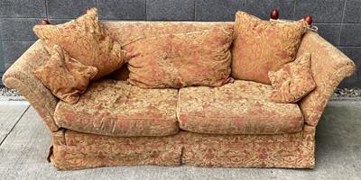 Lot 24 - A Knole sofa, approx 75cm x 215cm x 92cm.