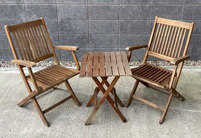 Lot 14 - A pair of wooden folding 'Royal Craft' garden...