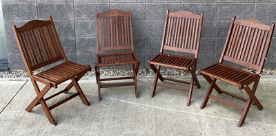 Lot 16 - A set of four 'Viceroy' folding garden chairs.