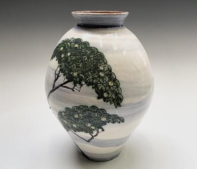 Lot 807 - Alan Brough, A studio pottery vase, incised...