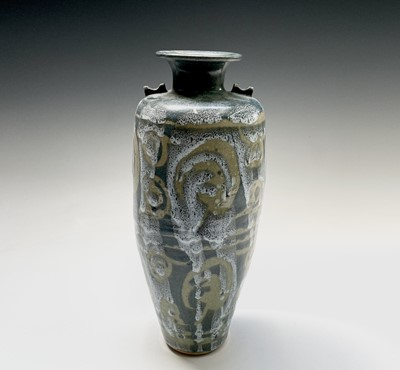 Lot 808 - Alan Brough, A slender studio pottery...