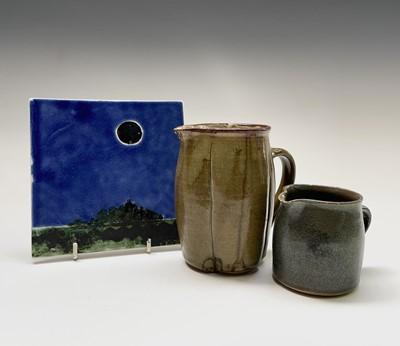 Lot 809 - Alan Brough, A studio pottery jug, with...