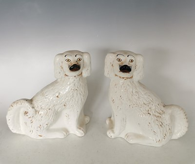 Lot 89 - A pair of ceramic Staffordshire King Charles...