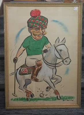 Lot 71 - Syd VANNS (XX), A caricature of a horse-rider...