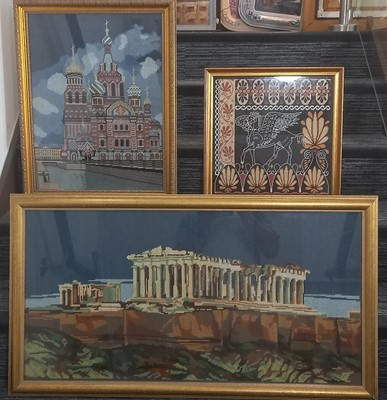 Lot 79 - Three framed tapestries - St Paul's Cathedral...