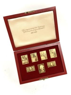 Lot 30 - A cased set of Coronation silver-gilt replica...