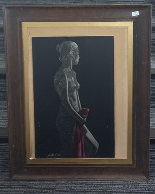 Lot 81 - Jonathan WEBSTER, nude study, etching, with...