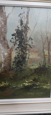 Lot 16 - Mary WASTIE (1935), 'Primrose Wood 4/1982' oil...