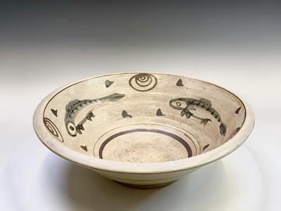 Lot 803 - A studio pottery stoneware bowl of large...