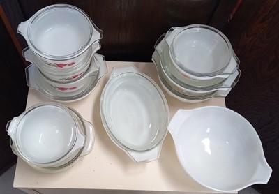Lot 9 - Vintage JAJ Pyrex bowls, six with the Morning...