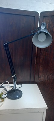Lot 21 - A Herbert Terry anglepoise lamp with a switch...
