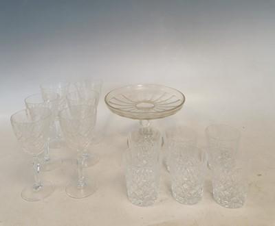 Lot 51 - Twelve lead crystal whiskey and wine glasses.