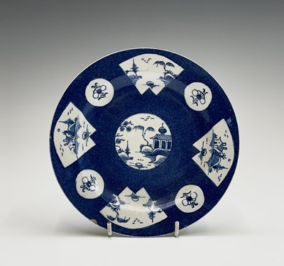 Lot 805 - A Bow porcelain plate, 18th century, the...