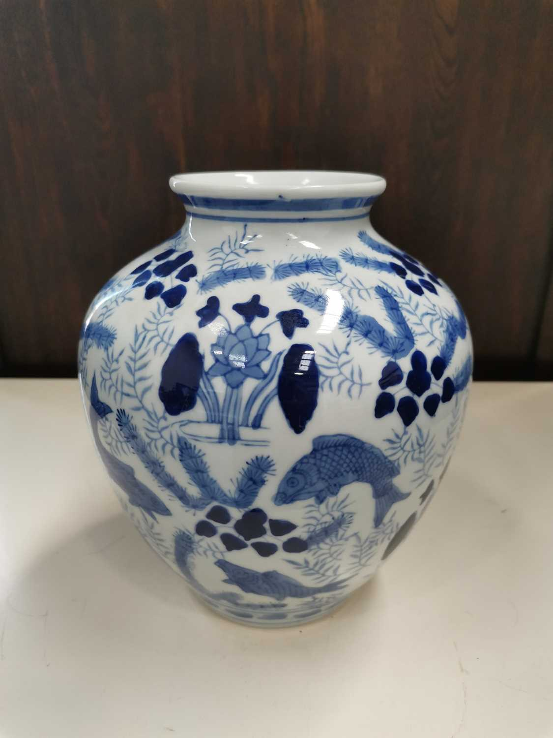 Lot 22 - A Chinese blue and white porcelain vase,...