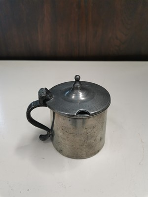 Lot 6 - A Georgian pewter mustard pot.