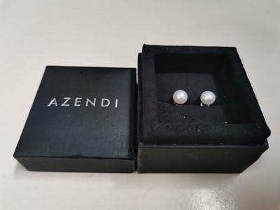 Lot 28 - A pair of 'Azendi' pearl earrings.