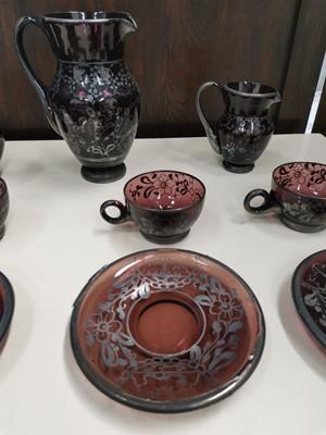 Lot 17 - Twelve pieces of vintage Bohemian glass