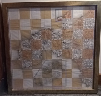 Lot 24 - An unusual Cornish chessboard protected by...